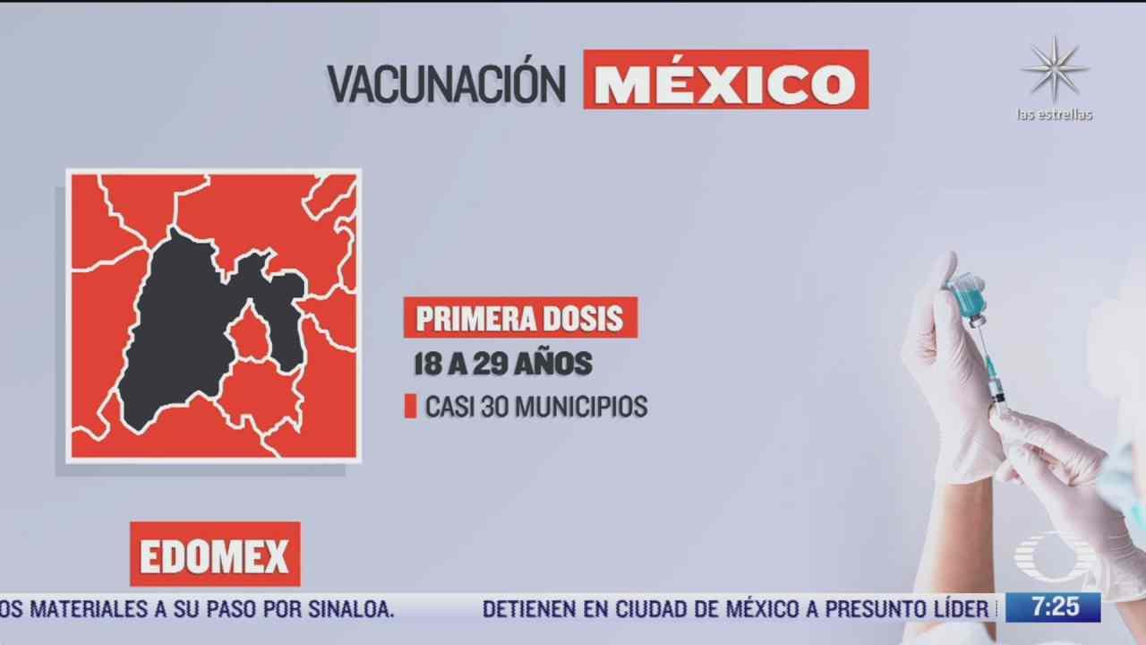 en que estados inicia la vacunacion covid hoy 14 de octubre de