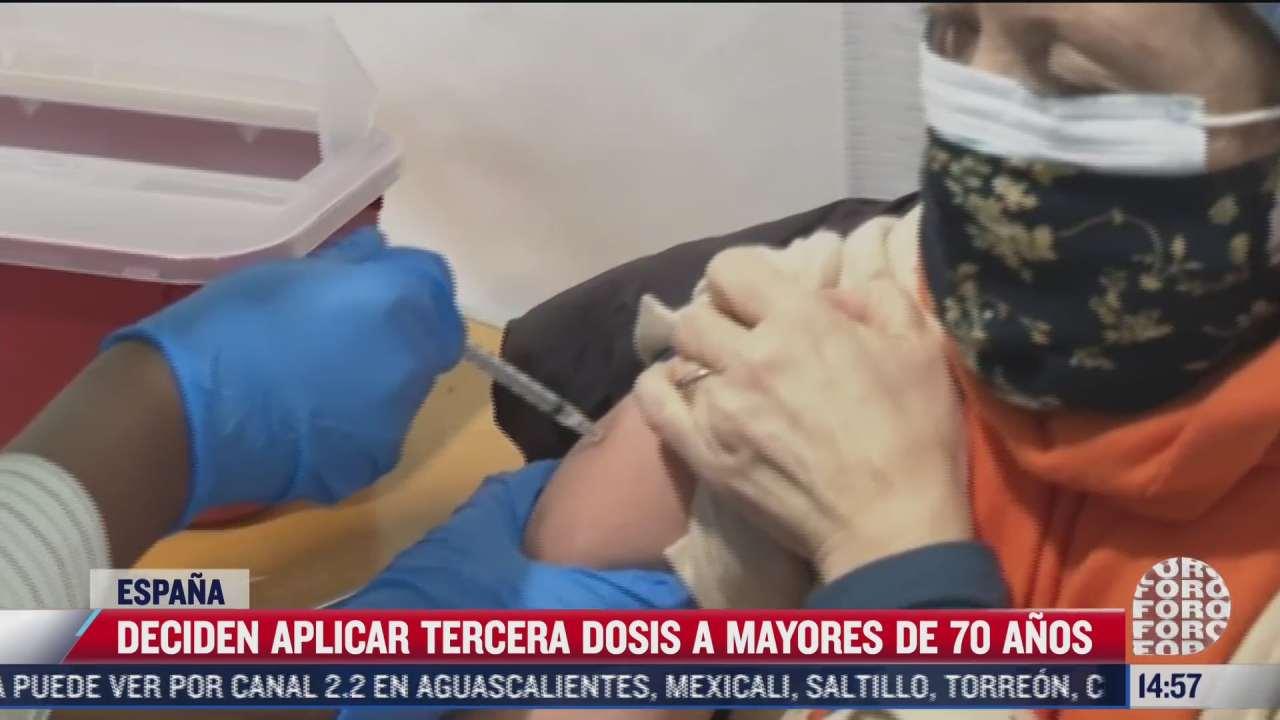 espana autoriza tercera dosis de vacuna anticovid a adultos mayores