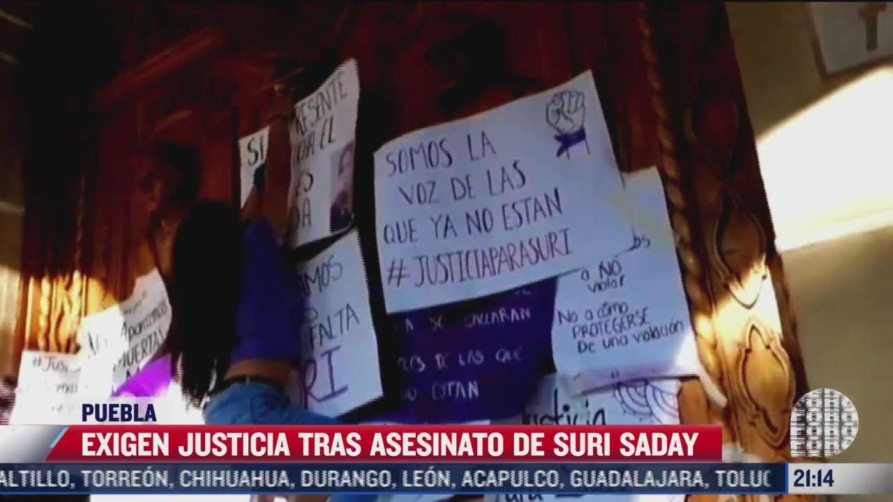 exigen justicia tras asesinato de suri saday en puebla
