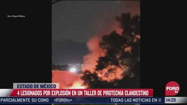 explosion en tultepec deja saldo de cuatro lesionados