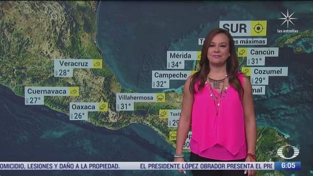 frente frio 4 provocara lluvias fuertes en el oriente y sureste de mexico