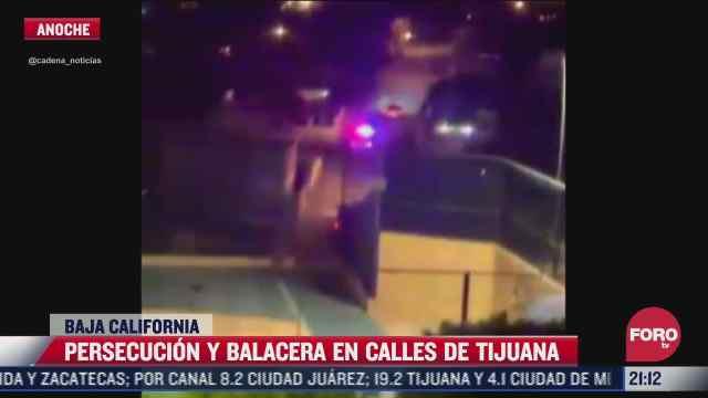 hombres armados agreden a balazos a policias en tijuana