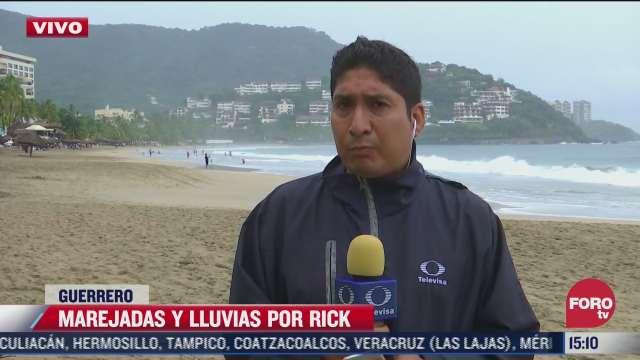 huracan rick provoca marejadas y lluvias en guerrero