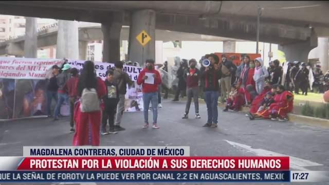 indigenas protestan en cdmx por violacion a sus derechos humanos
