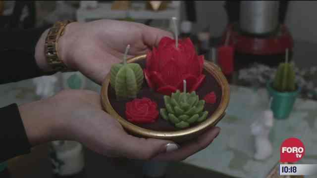 la elaboracion de velas decorativas
