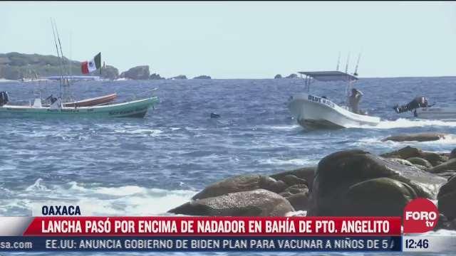 lancha arrolla a nadador en puerto escondido