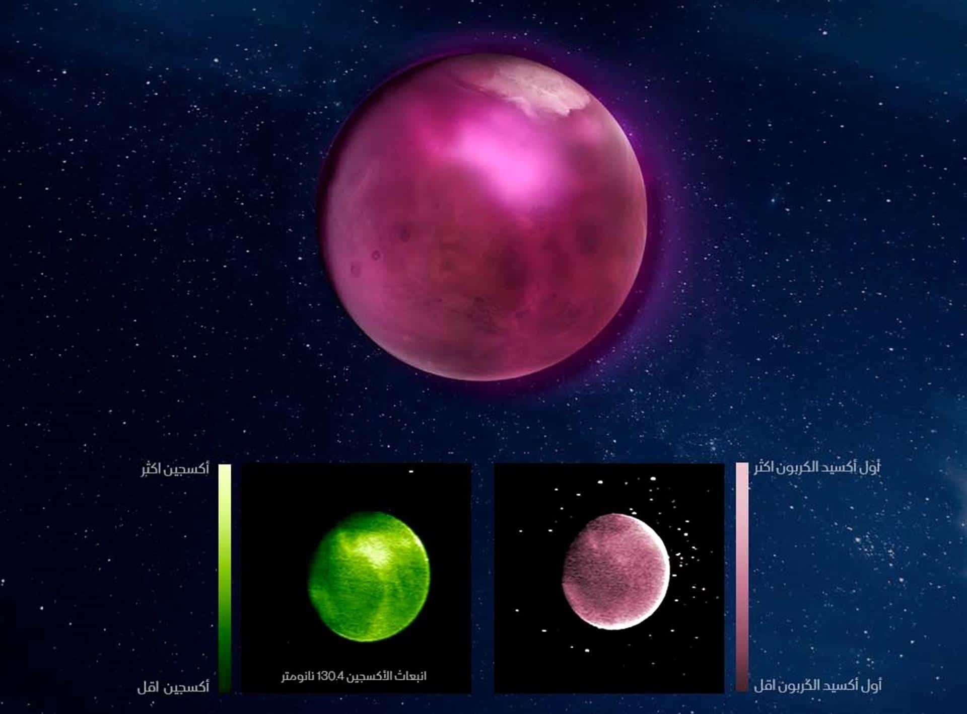 Οι εικόνες αποκαλύπτουν υψηλές συγκεντρώσεις οξυγόνου στην ατμόσφαιρα του Άρη