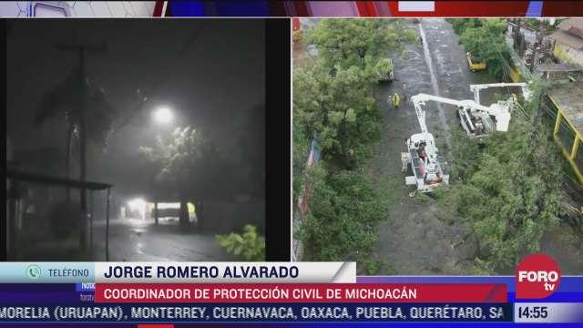 michoacan reporta saldo blanco tras paso de rick