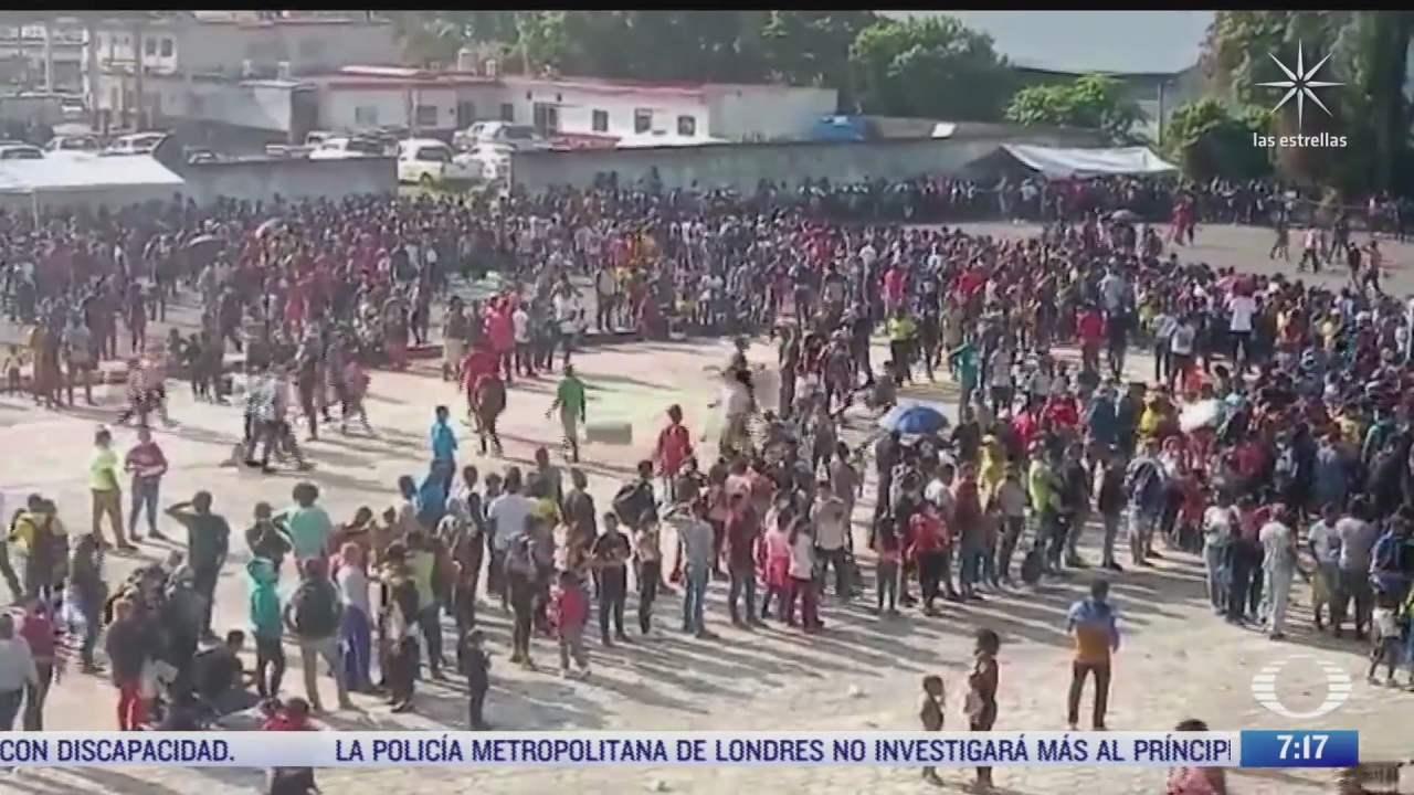 migrantes haitianos saturan oficinas de la comar en chiapas