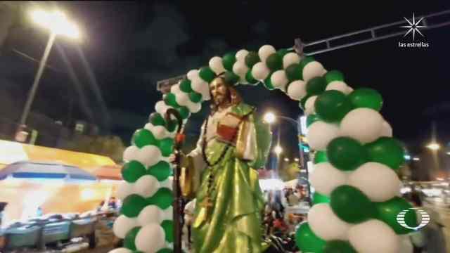 miles llegan a san hipolito a festejar a san juditas