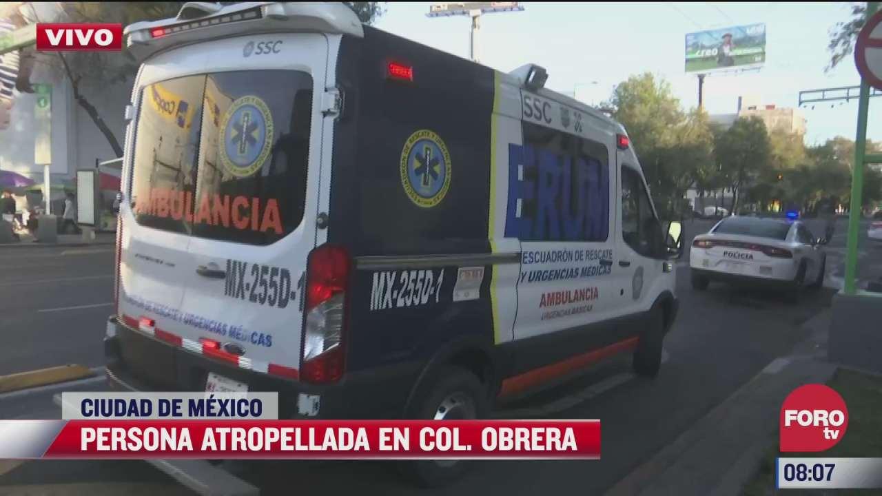 motociclista es atropellado por camioneta en la colonia obrera en cdmx