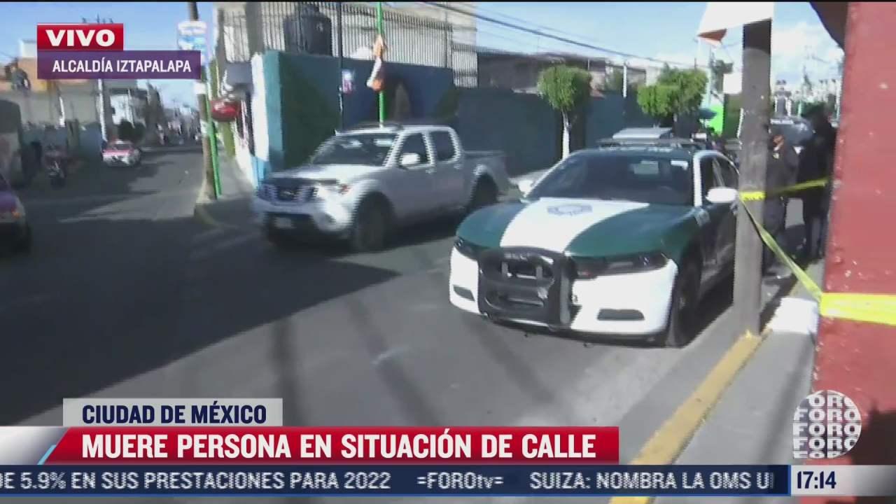 muere hombre en condicion de calle en iztapalapa