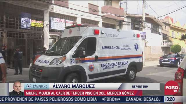 muere mujer al caer de un tercer piso en alcaldia benito juarez