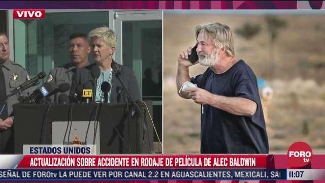 pendiente verificar cuantas balas habia en arma de utileria que dieron al actor alec baldwin dice sheriff de sante fe