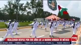 realizan desfile por 200 anos de la marina armada de mexico