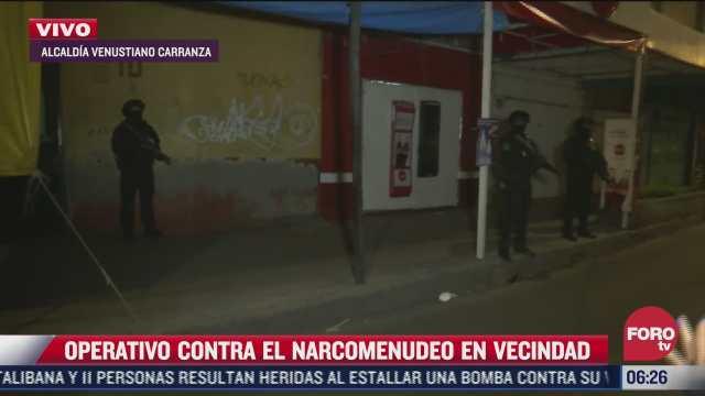 realizan operativo contra narcomenudeo en vecindad en zona centro de cdmx