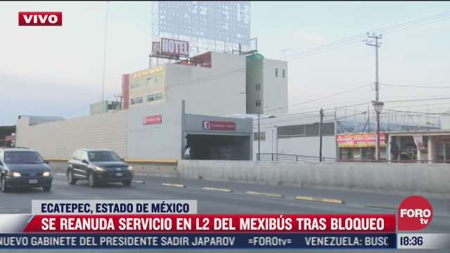 reanudan servicio en l2 del mexibus tras bloqueo