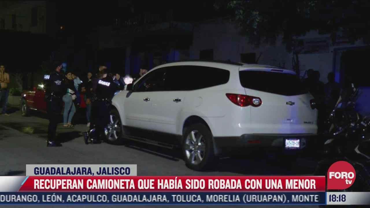 recuperan camioneta que habia sido robada con una menor de edad en guadalajara