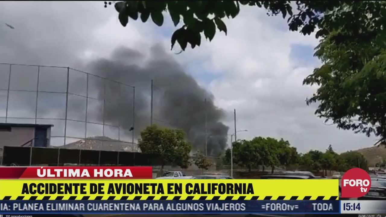 reportan accidente aereo en california