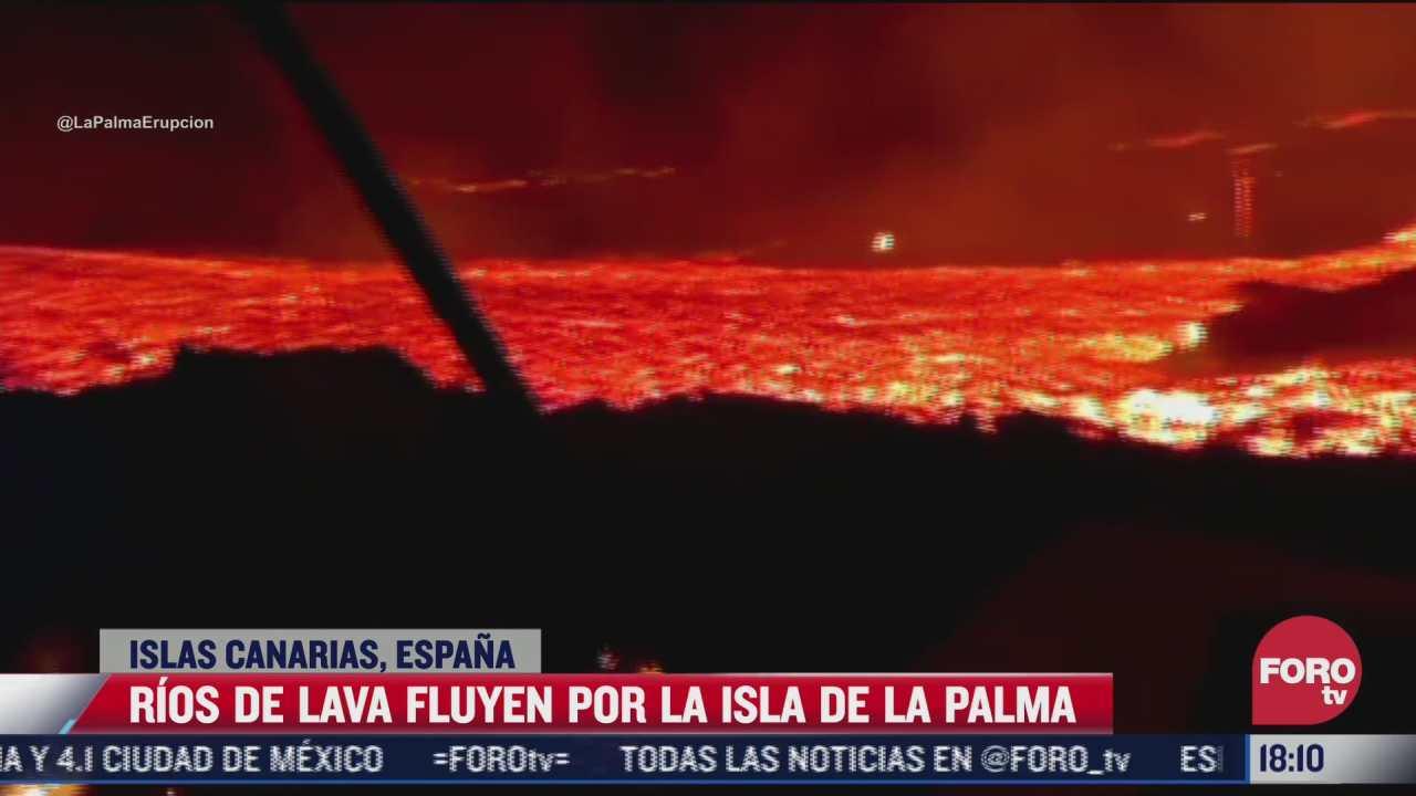 rios de lava fluyen por la isla de la palma