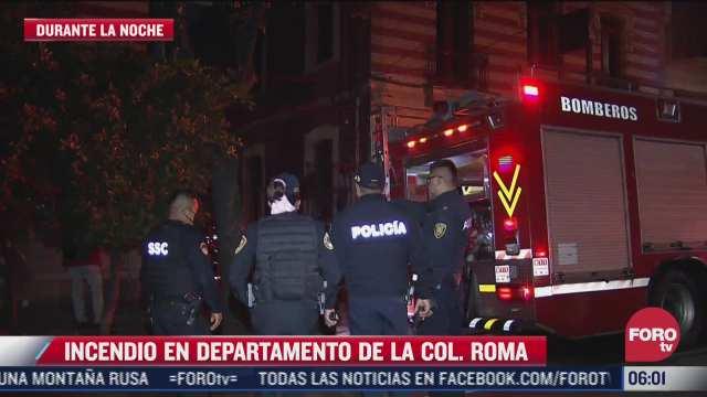 se registra incendio en departamento de la colonia roma cdmx