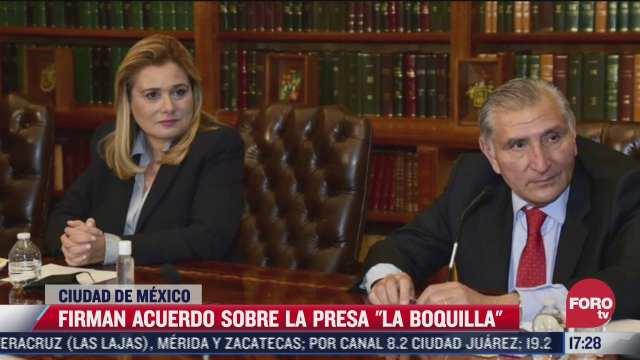 segog y gobierno de chihuahua firman acuerdo para liberar presa la boquilla