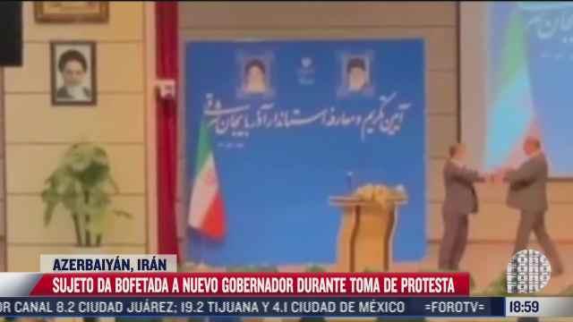 sujeto da bofetada a nuevo gobernador en iran
