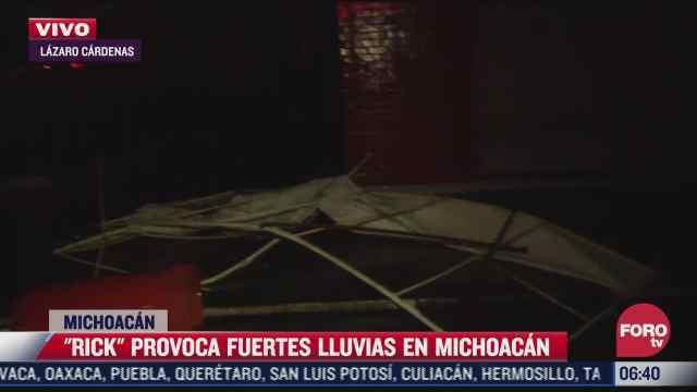 suspenden clases en lazaro cardenas michoacan por impacto de huracan rick