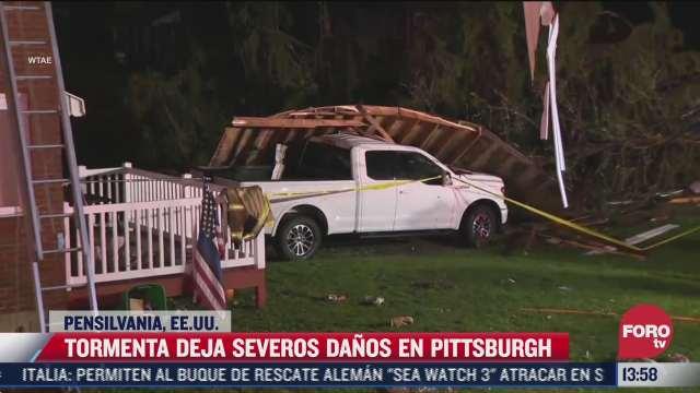 tormenta provoca afectaciones en pittsburgh pensilvania