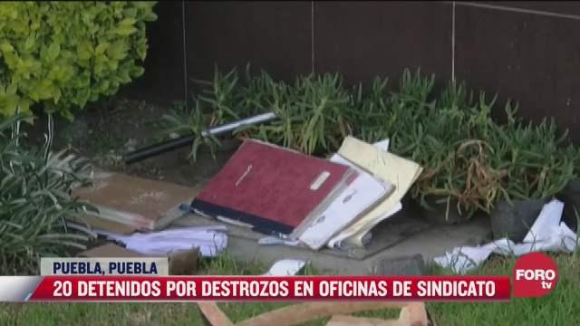 vandalizan oficinas de sindicato benito juarez en puebla