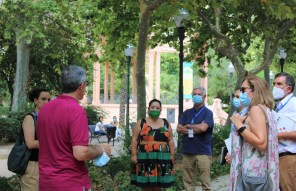27-07-21 Escuder Viles en Flor visita Ribalta