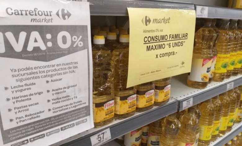 Photo of Supermercados instauran un cepo a la venta de productos sin IVA