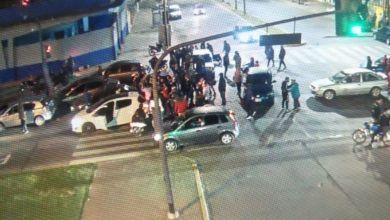 Photo of Caravana de la UOCRA en La Plata durante la madrugada