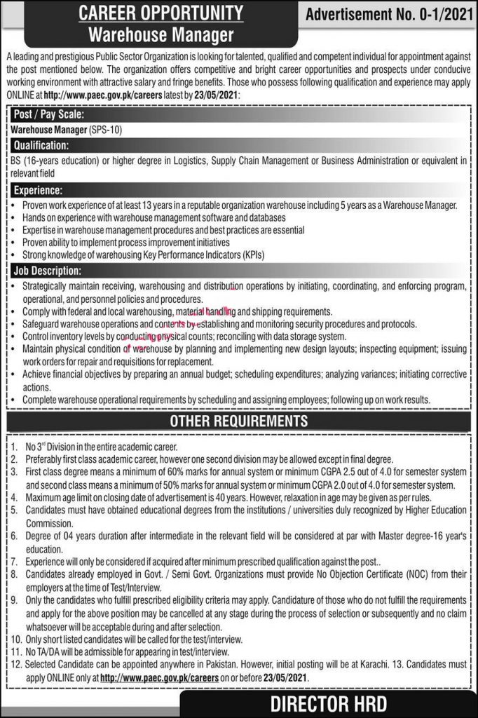 Pakistan atomic energy commission jobs 2021 new