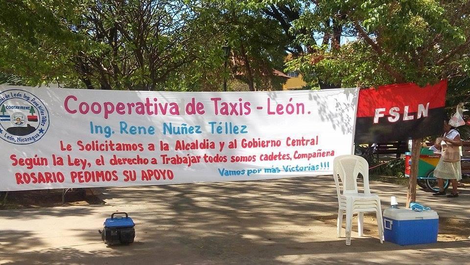 Taxistas piratas en protesta de huelga de hambre en León