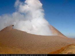Explosión en volcán Telica esta mañana en León.