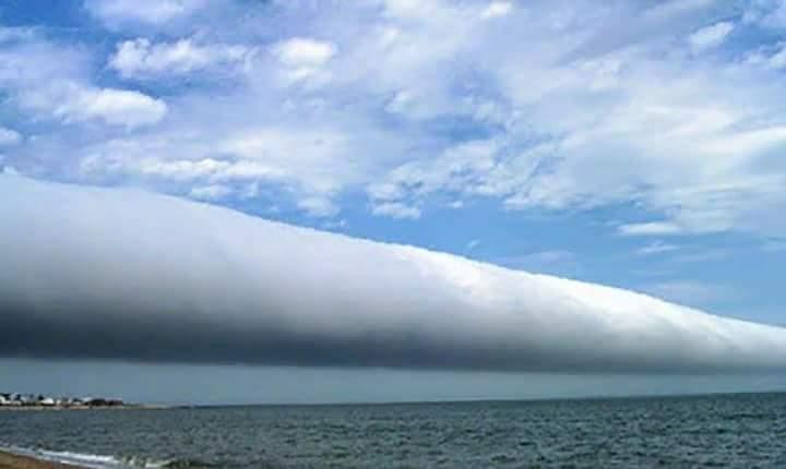 Nubes cilíndricas generan pánico a pobladores de Corinto