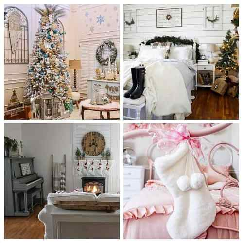 Sharing my Buffalo check inspired Christmas bedroom for the Favorite Christmas Room blog hop along with 12 other bloggers to inspire you!