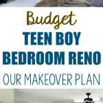 Budget Teen Boy Bedroom Reno Our Makeover Plan Noting Grace