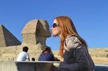 Callie Watson in Cairo.