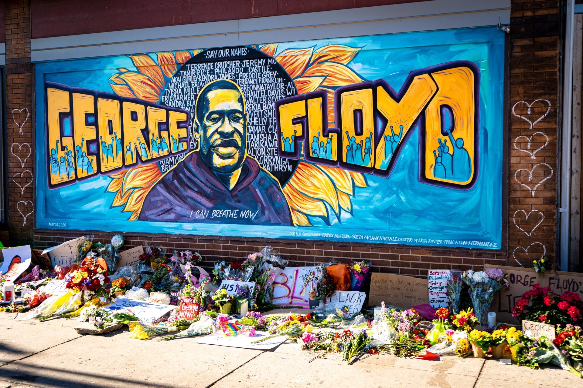 George Floyd memorial in Minneapolis, MN
