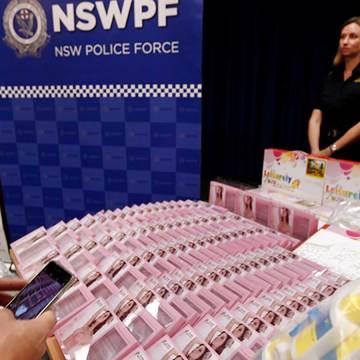 Decomiso histórico de droga en Australia, oculta en rellenos para brasier