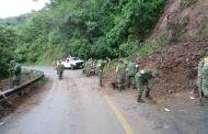 Implementa ejército plan DN-III-E ante derrumbe sobre la carretera Huixtla - Motozintla