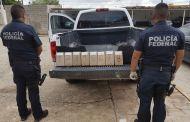 Policía Federal detuvo en punto de inspección no intrusiva a conductor que trasportaba de manera oculta más de ocho kilos de cocaína en Las Choapas, Veracruz.