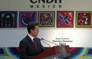 Refrenda Peña Nieto compromiso con los derechos humanos