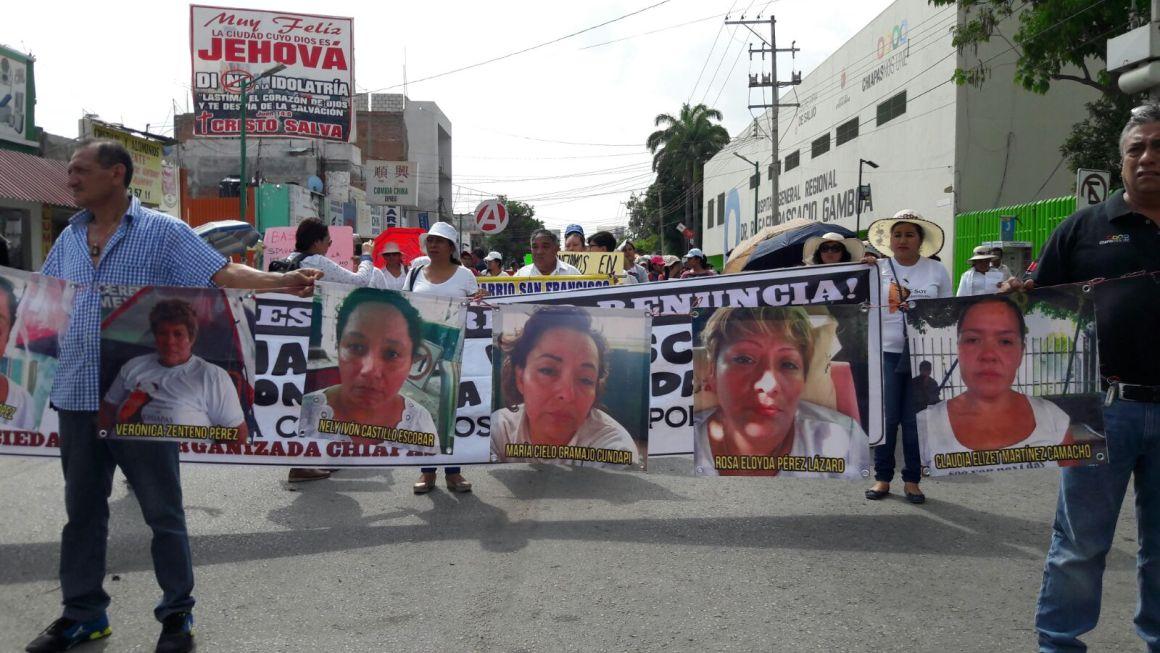 Acuerdan Gobierno de Chiapas y enfermeras concluir huelga de hambre