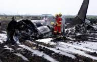 Mueren piloto y copiloto de jet accidentado en Toluca