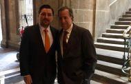 Se reúnen Fernando Castellanos y José Antonio Meade en Palacio Nacional