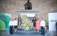 Conmemoran el CXLV aniversario luctuoso de Don Benito Juárez García