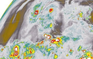 En Sonora, Chihuahua, Durango, Sinaloa y el sur de México se prevén tormentas muy fuertes